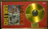 GUNS N' ROSES - APPETITE FOR DESTRUCTION -24 Carat Gold Disc and cover